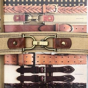 J. Crew Jute Webbing and Leather Belt